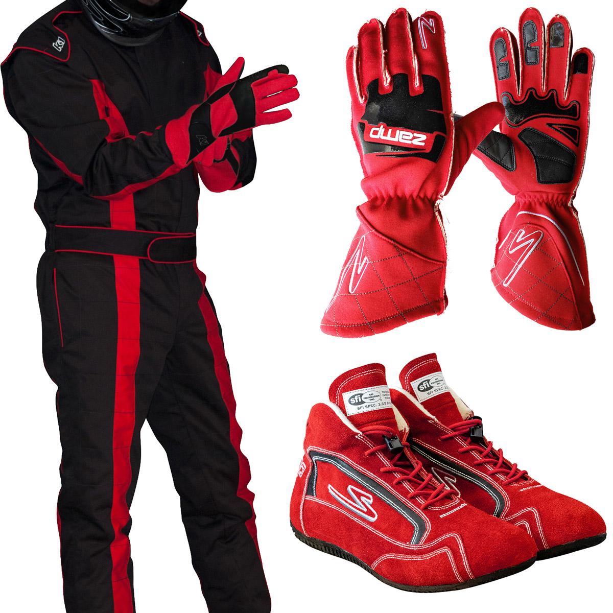 Racerdirect.net 1 Piece Fire Suit Driving Suit SFI 3.2A//1 Black One Piece 4X