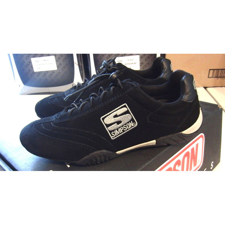 Simpson Racing Shoes >> Racingdirect Com Simpson Impression Shoes Black 5 0
