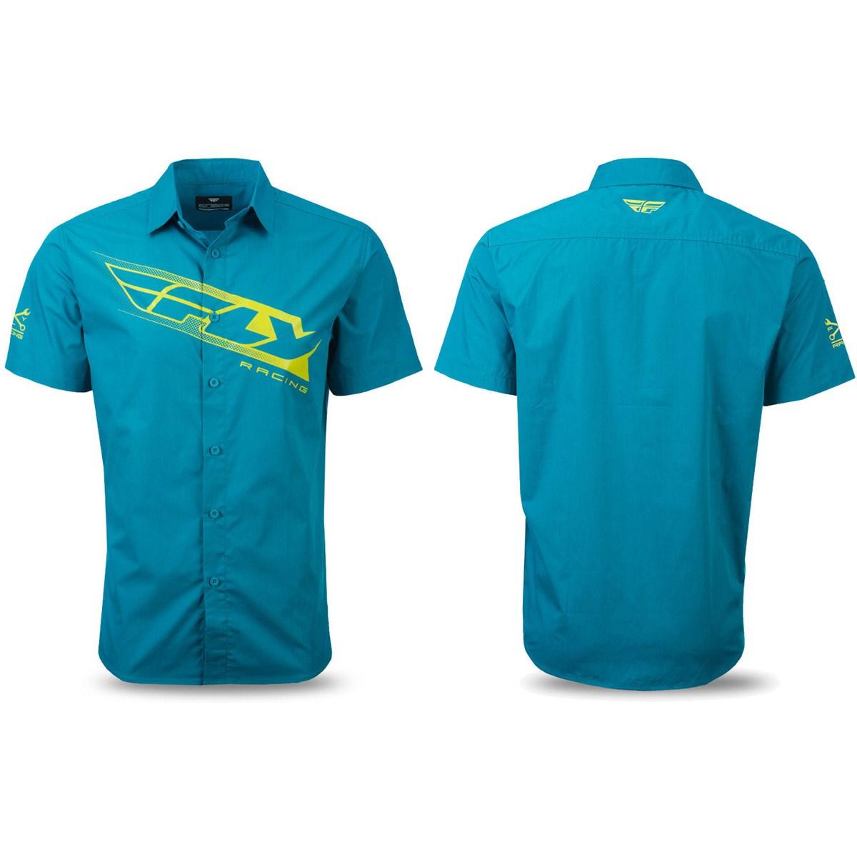 Black Fly Racing Sizes M to XL Pit Crew Mechanic Shirt