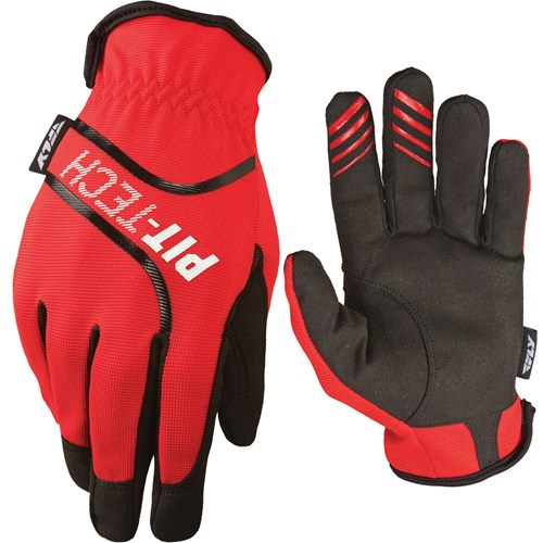 Fly Racing - Pit Tech Lite Gloves - Red/X-Small - A1194